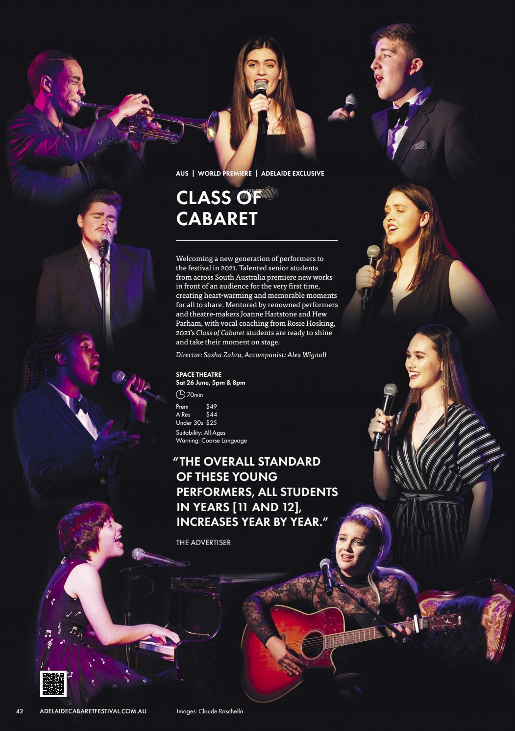 Adelaide Cabaret Festival 2021 Brochure page 42