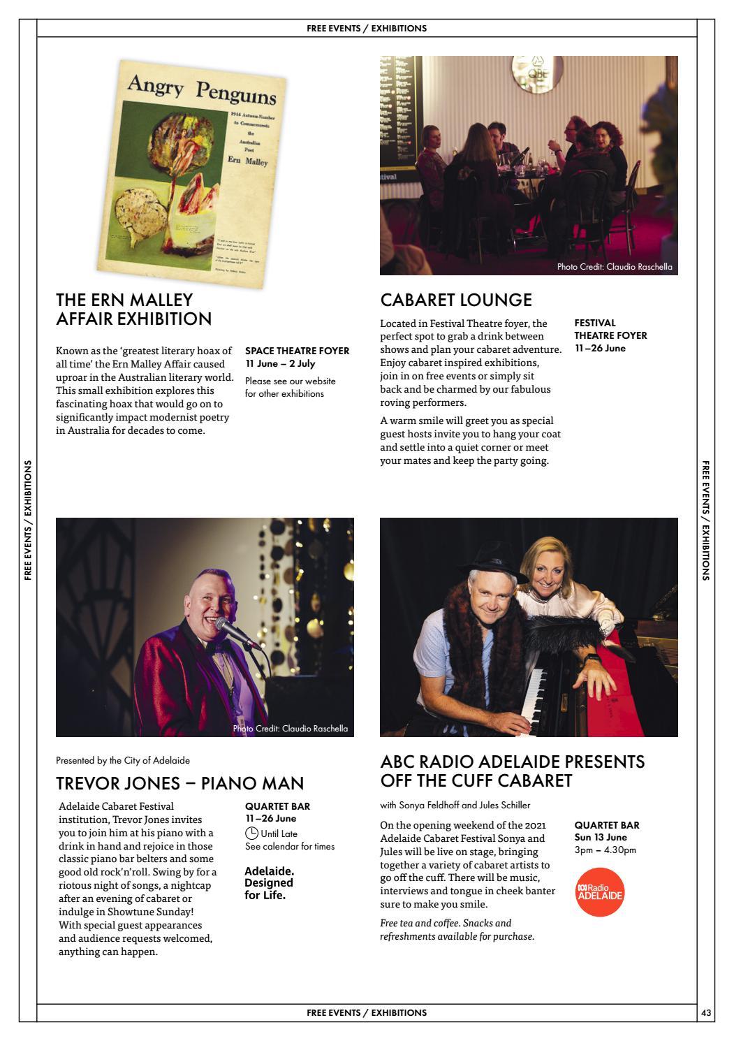 Adelaide Cabaret Festival 2021 Brochure page 43