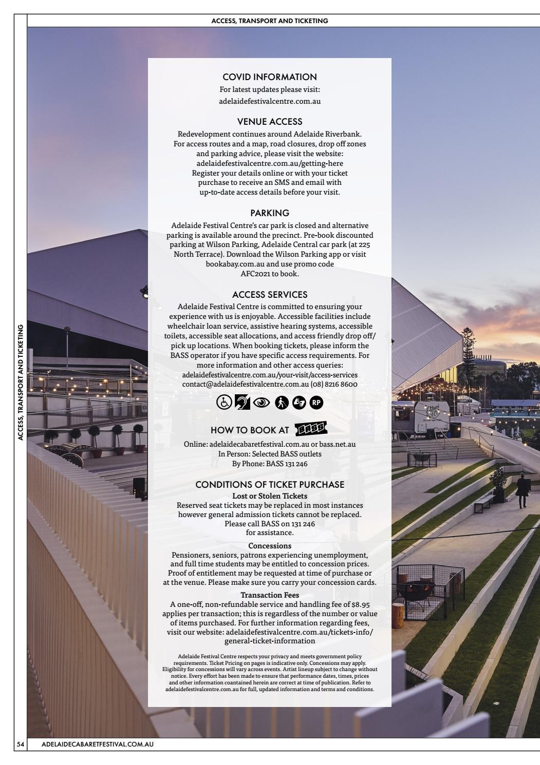 Adelaide Cabaret Festival 2021 Brochure page 54