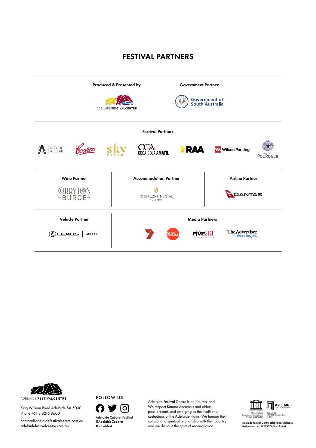 Adelaide Cabaret Festival 2021 Brochure page 59