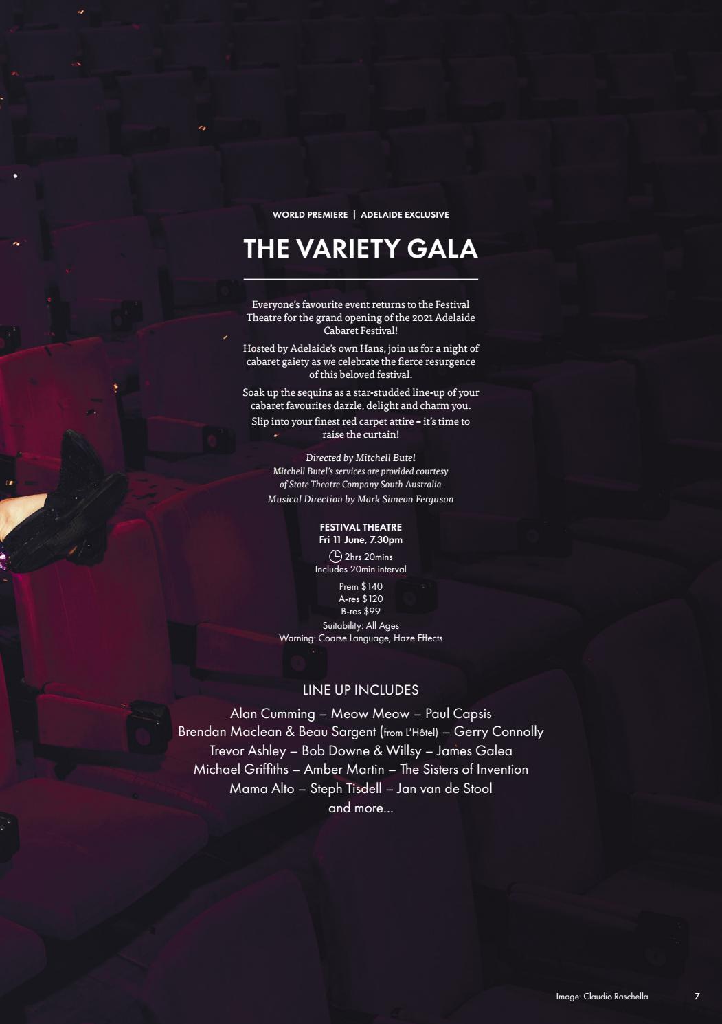 Adelaide Cabaret Festival 2021 Brochure page 7