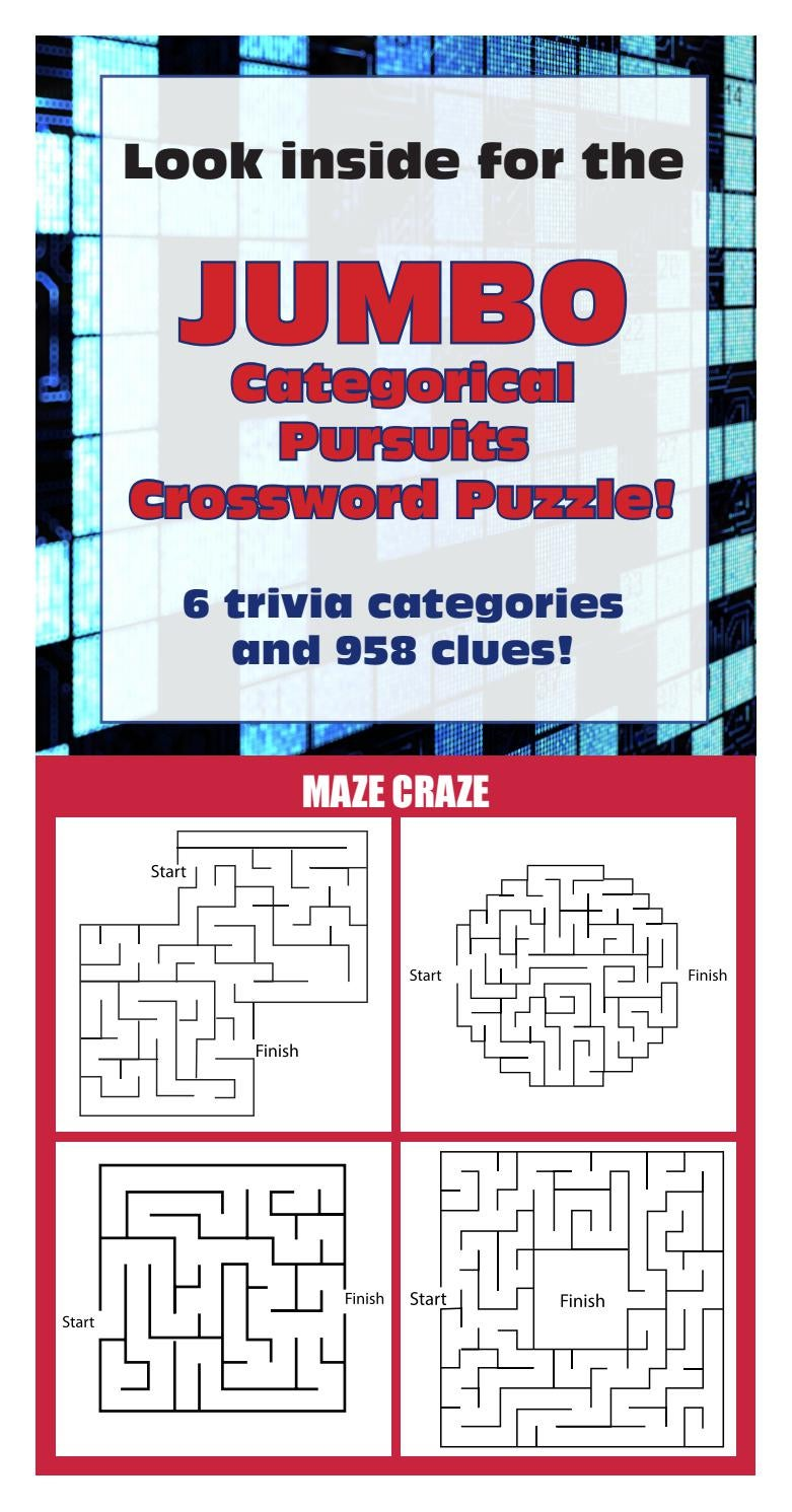 Jumbo Crossword Categorical Pursuits By Hearst Midwest Issuu