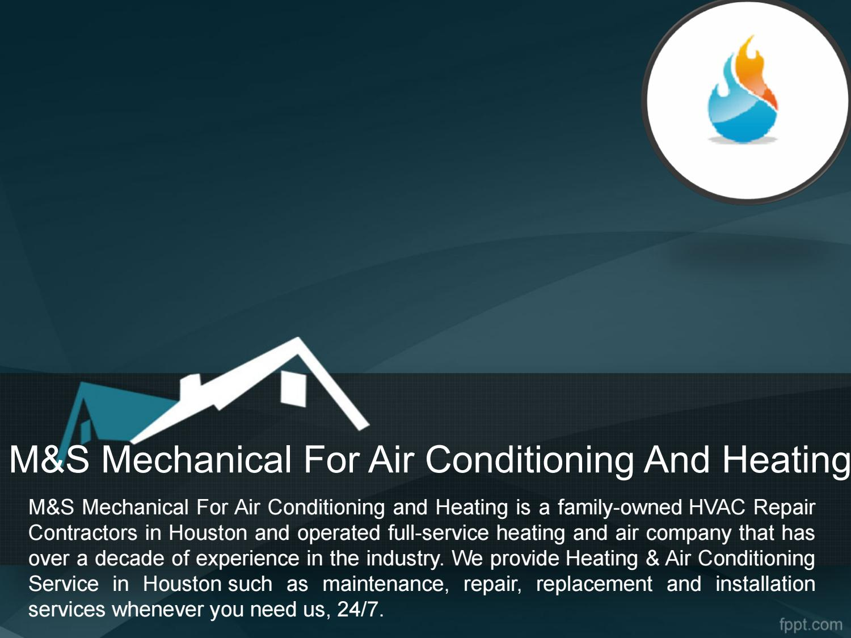 HVAC Repairs Katy TX - M&S Mechanical
