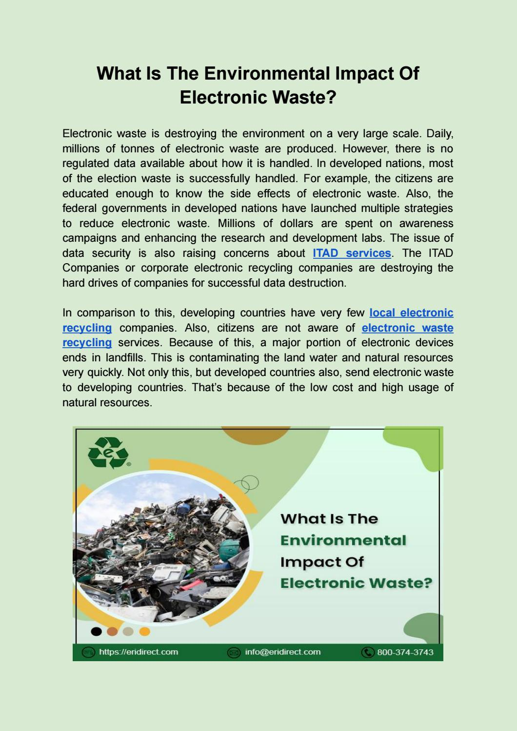 What Is The Environmental Impact Of Electronic Waste?