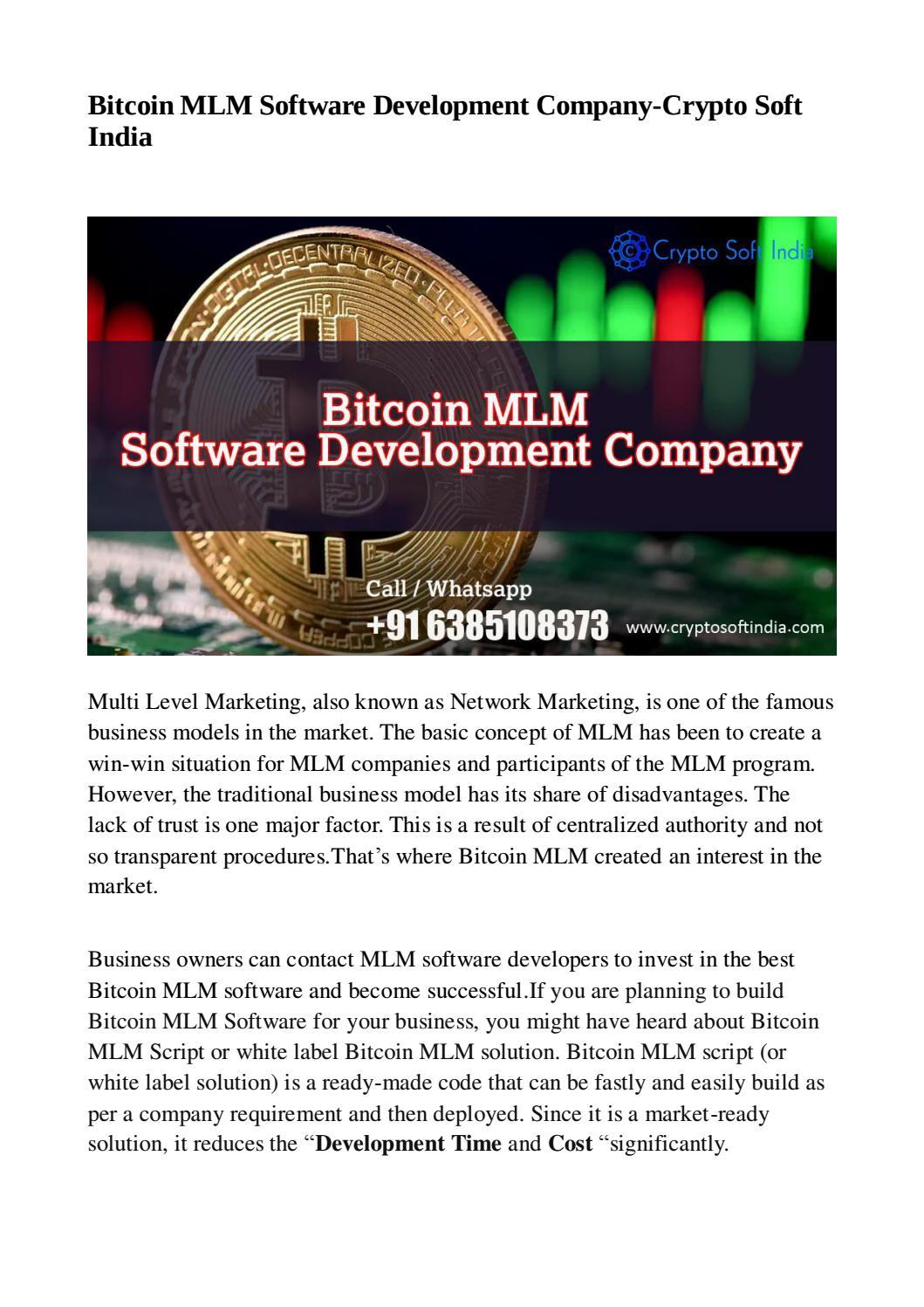 bitcoin india mlm
