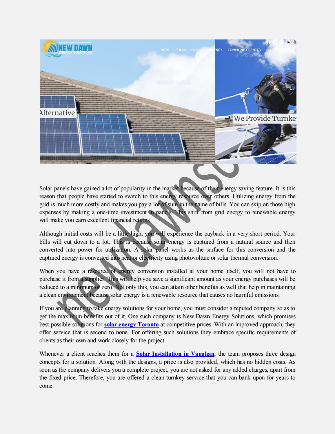 Complete Solar Systems Vaughan By Newdawnsolar Issuu