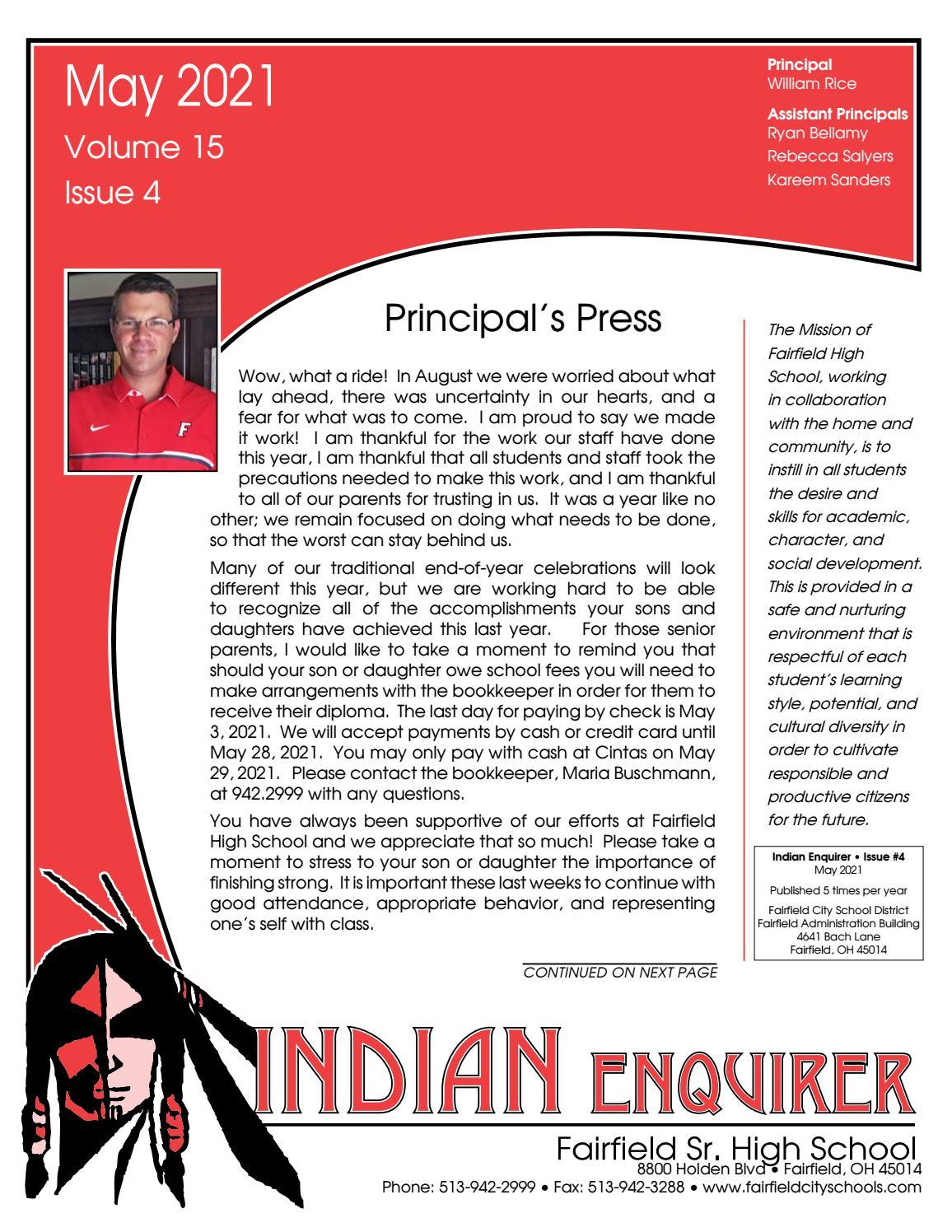 Fairfield High School Newsletter By Academy Publishing Inc Issuu