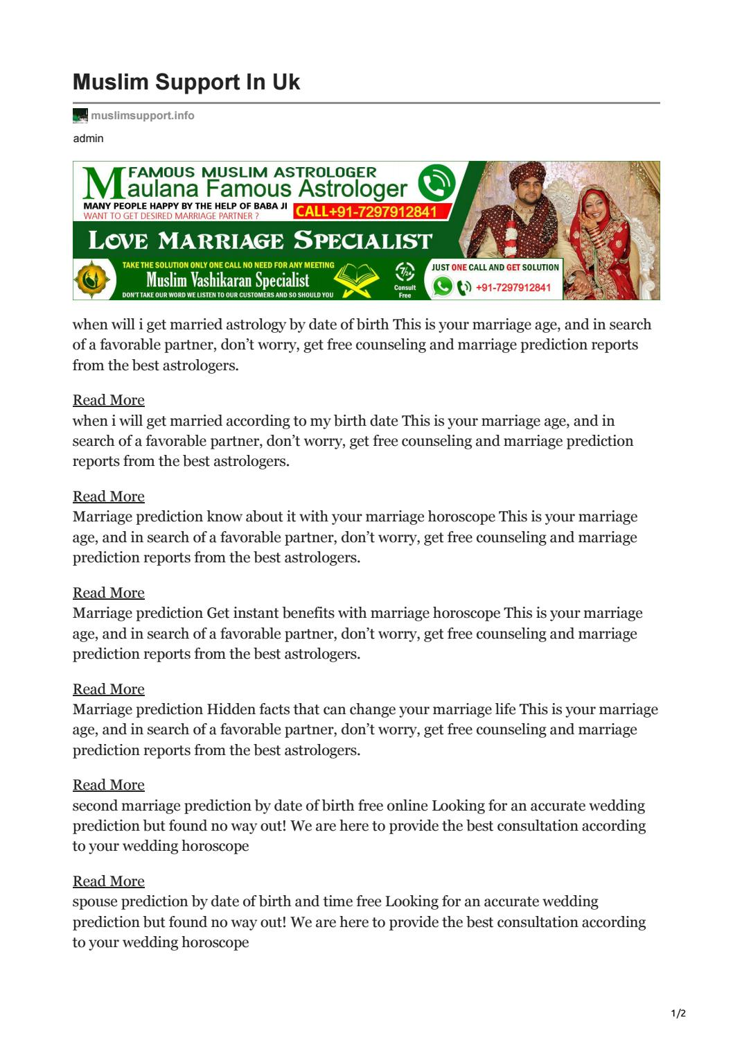 Will married horoscope get when Timing Of