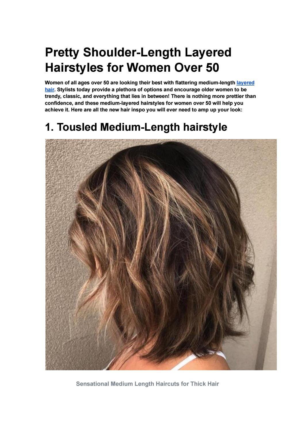 Pretty Shoulder-Length Layered Hairstyles for Women Over 4 by