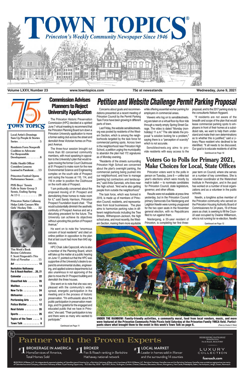 Town Topics Newspaper, June 9, 9 by Witherspoon Media Group   issuu