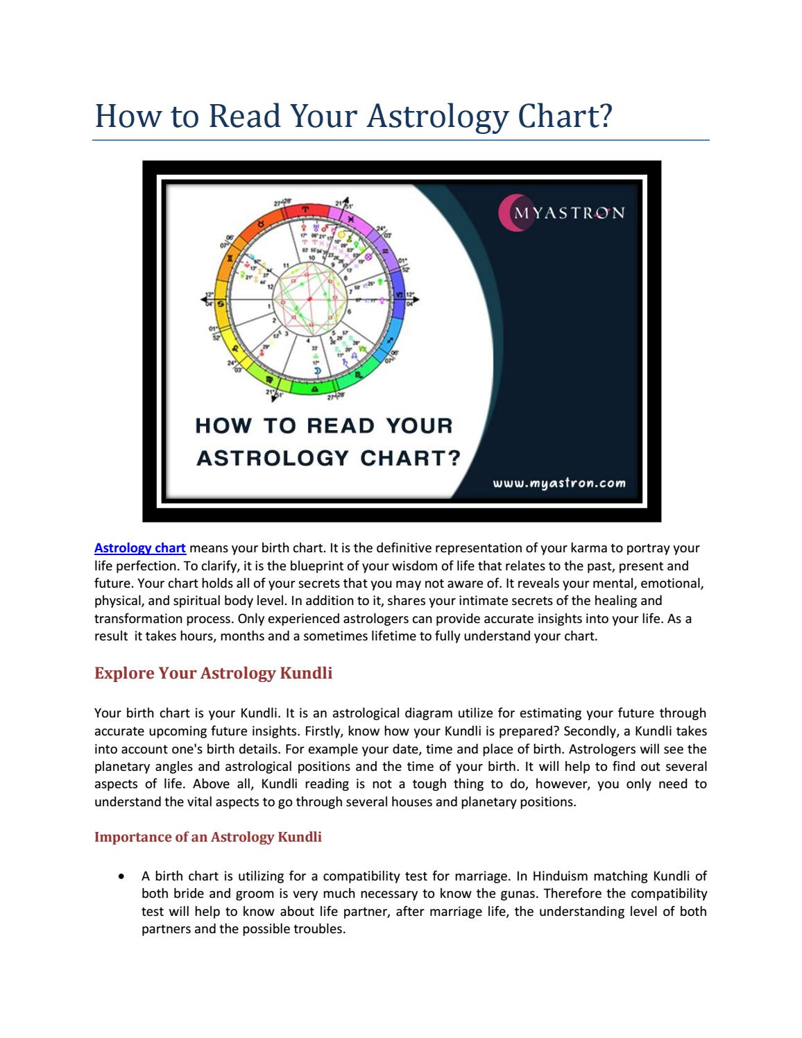 How To Read Astrology Compatibility Chart