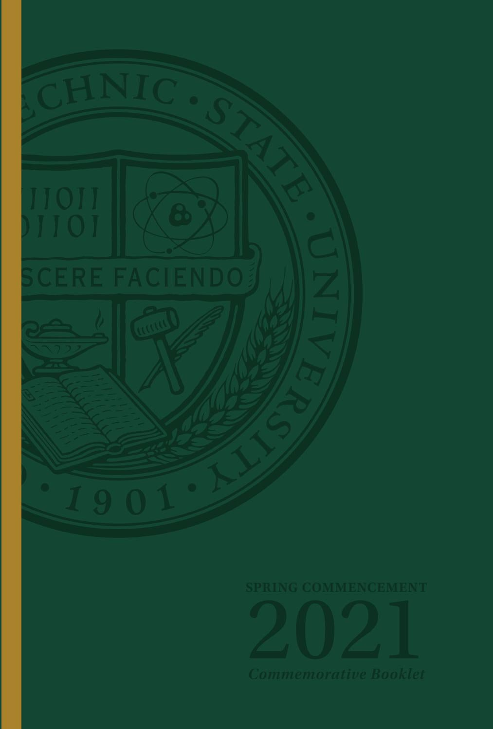 Cal Poly Spring Commencement 2021 Commemorative Booklet