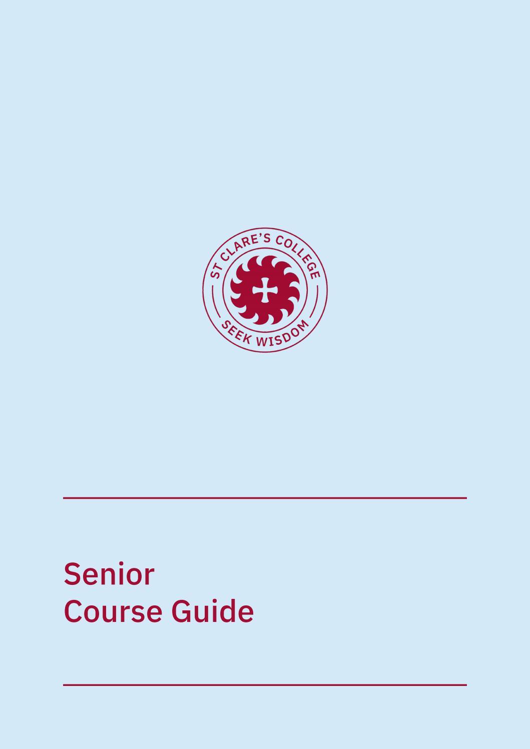 Senior Course Guide