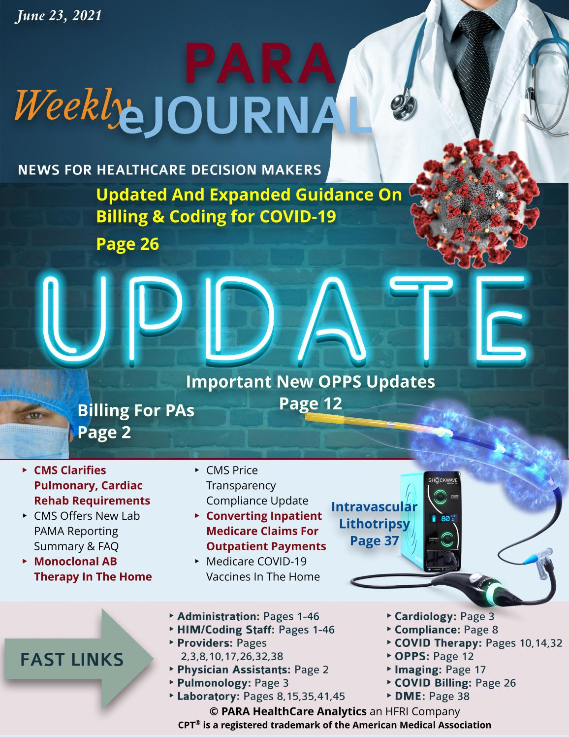 PARA HealthCare Analytics Weekly eJournal June 23, 2021 by ...