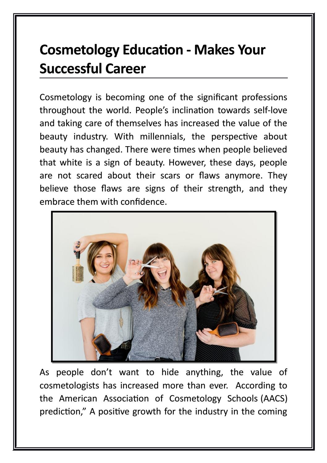 Cosmetology Education - Makes Your Successful Career