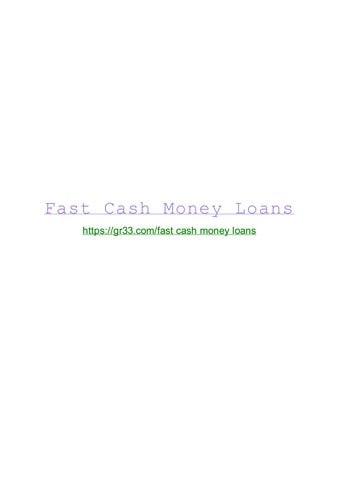 how to define fast cash loans