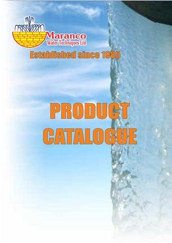 Maranco Water Techniques. Κατάλογος «Maranco Product e-Catalogue»