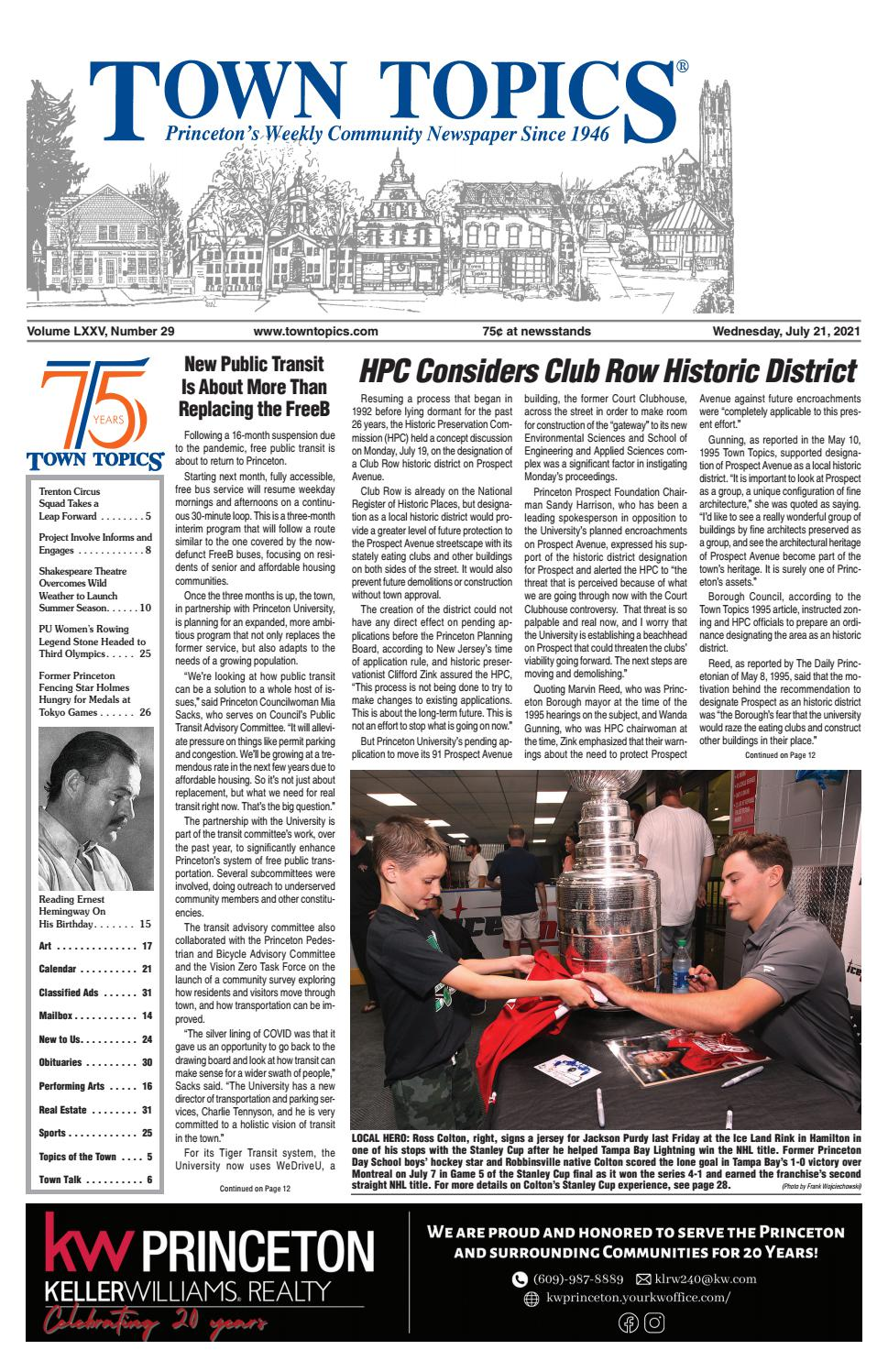 Town Topics Newspaper, July 9, 209 by Witherspoon Media Group ...