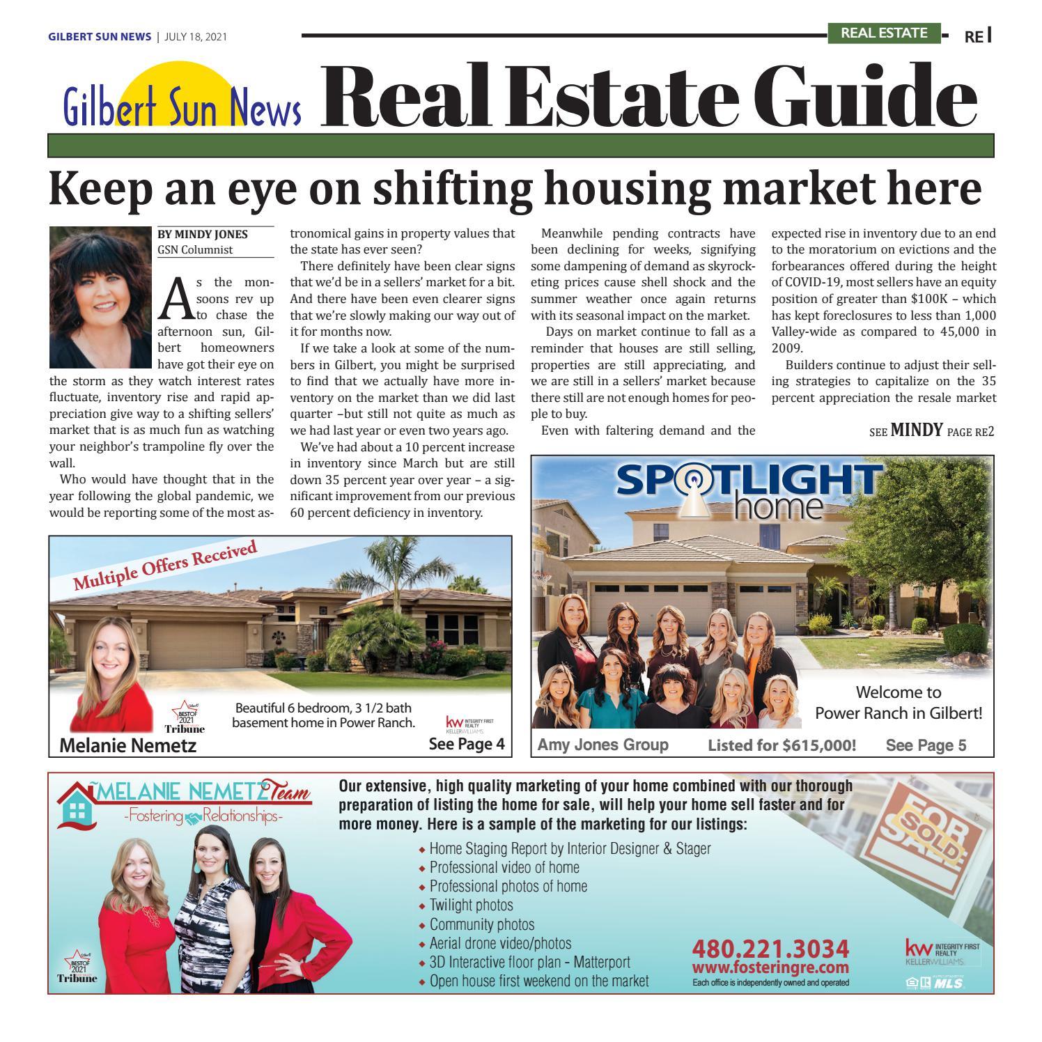 Gilbert Sun News Real Estate - 7.18.2021