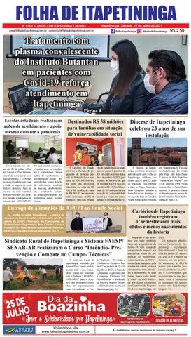 Folha de Itapetininga 24/07/2021 (Sabado)