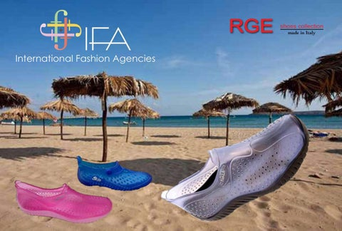 IFA Europe CY. Κατάλογος RGE Shoes Collection με παπούτσια θαλάσσης