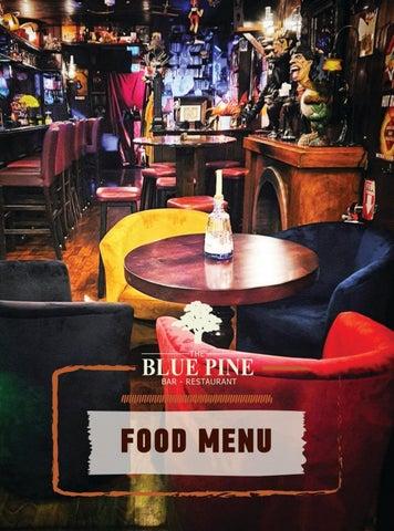 Blue Pine Bar & Restaurant. Κατάλογος - Food Menu για φαγητό