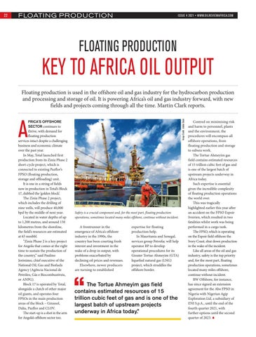 Floating production key to Africa's oil output