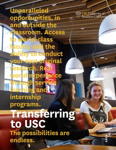 Transferring to USC by USC Enrollment Services - issuu