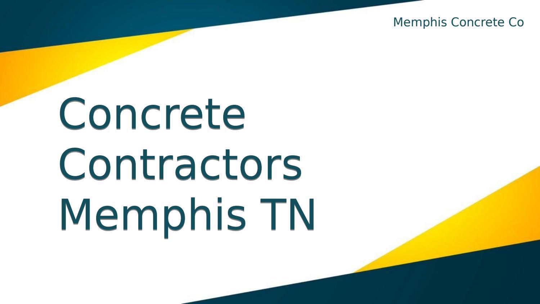 Concrete Contractors Memphis TN