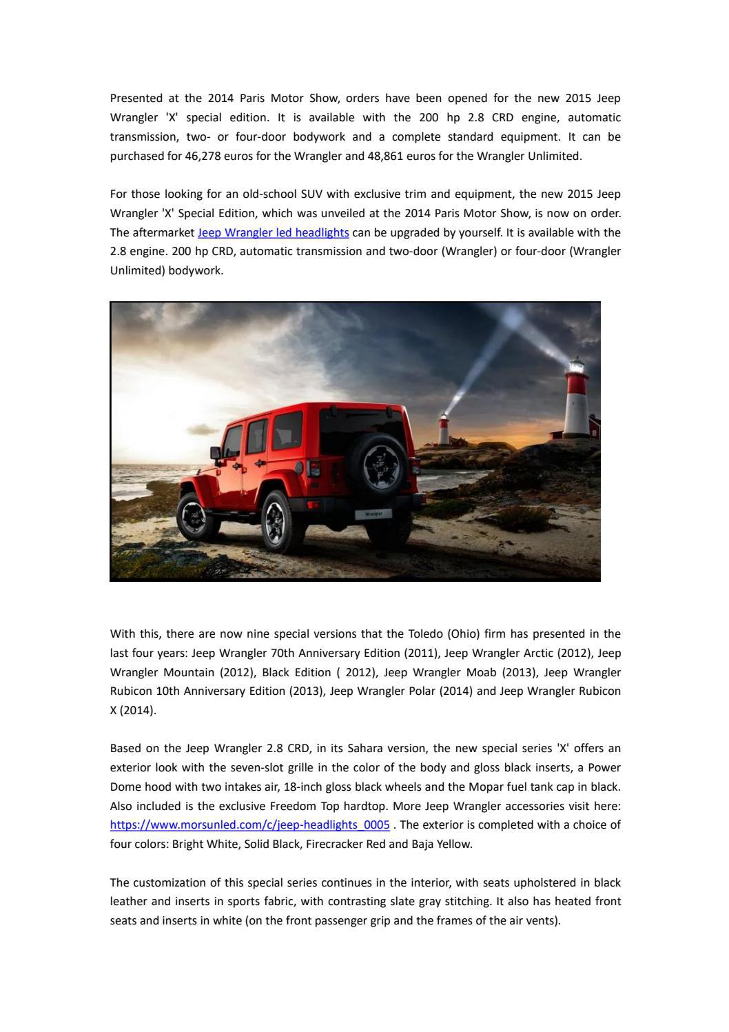 New Special Edition Jeep Wrangler X