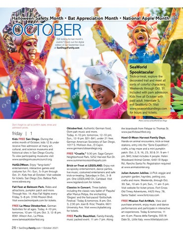 Page 26 of October Event Calendar San Diego