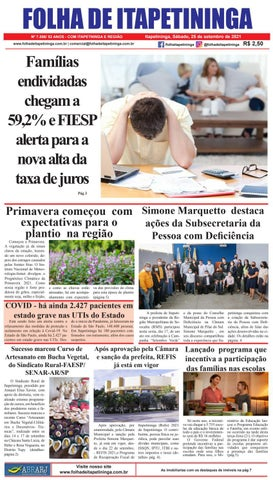 Folha de Itapetininga 25/09/2021 (Sabado)
