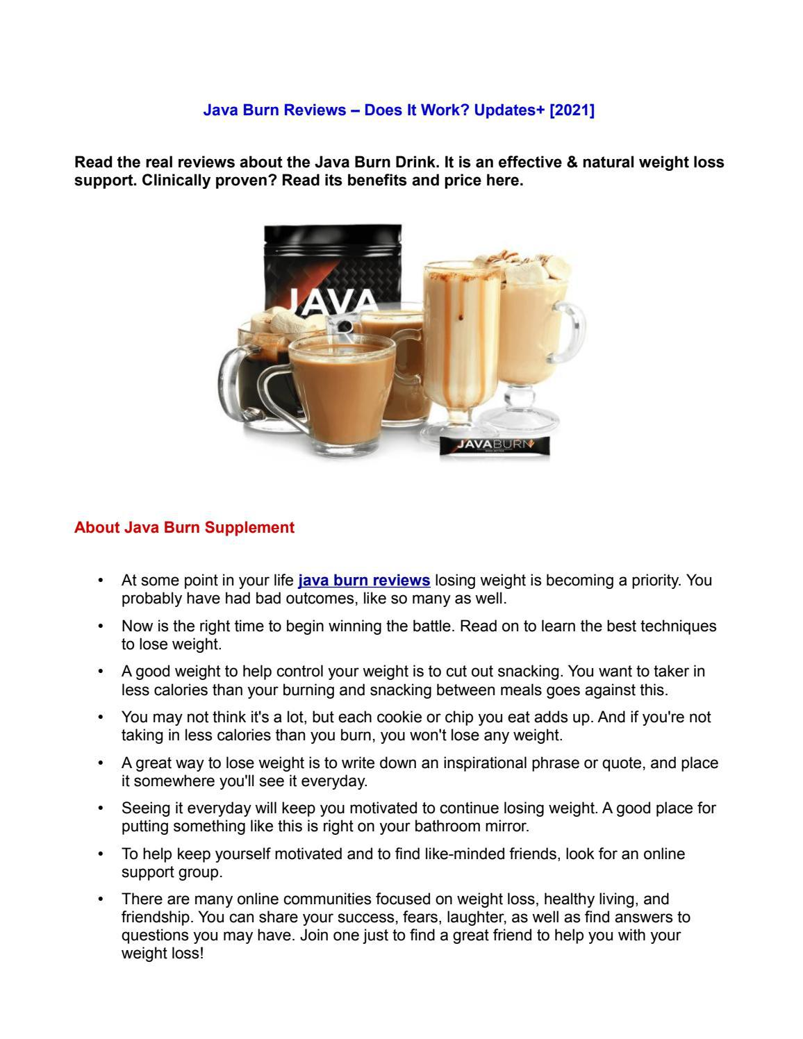 Java Burn Reviews - Is it a Powerful Weight Loss Supplement?