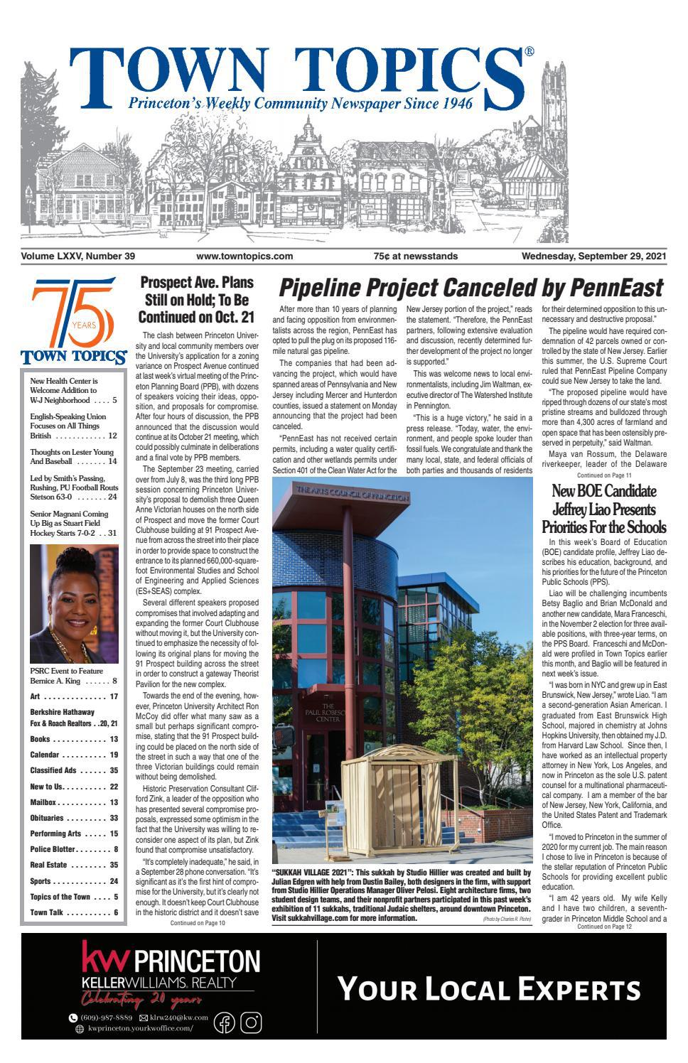 Town Topics Newspaper, September 9, 9 by Witherspoon Media ...
