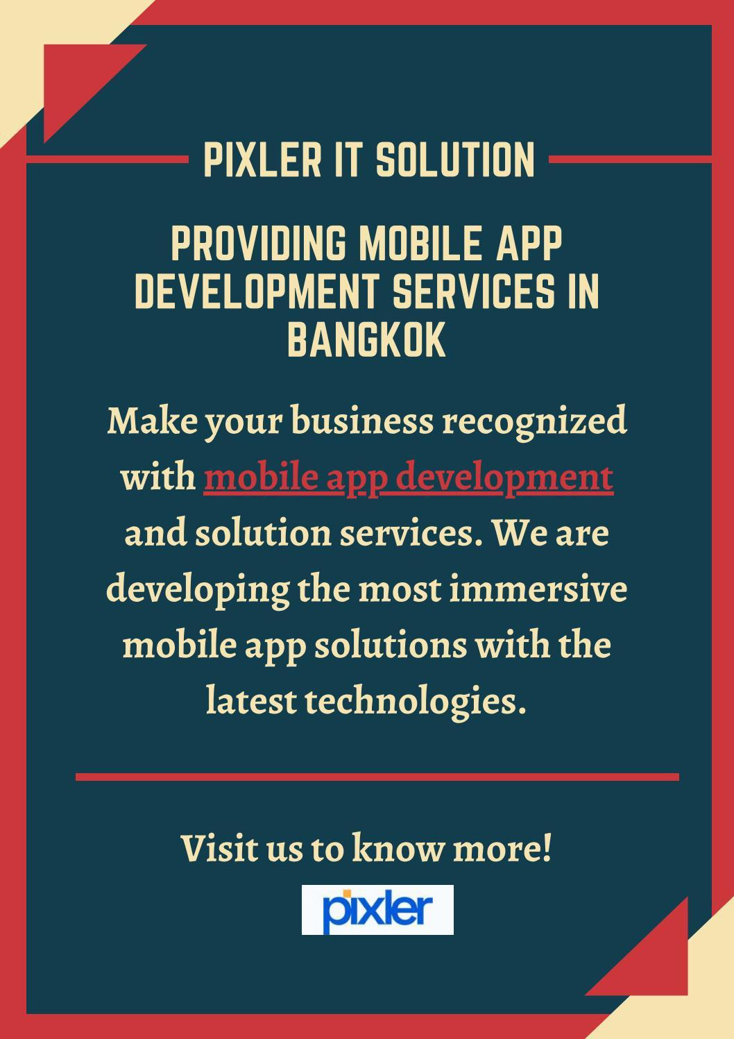 Providing Mobile App Development Services in Bangkok
