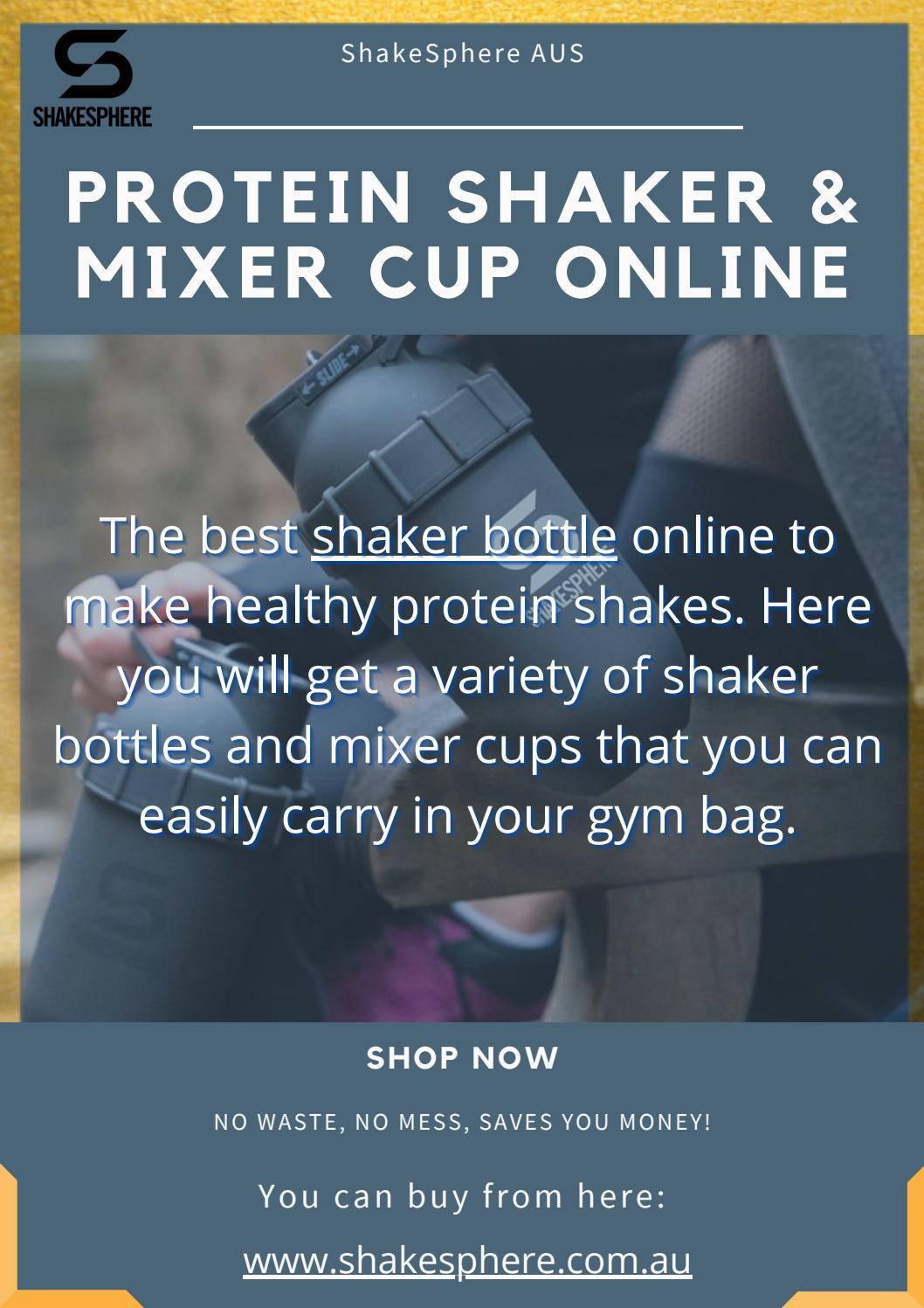 Buy Shaker Bottle and blender Bottle Online | ShakeSphere AUS