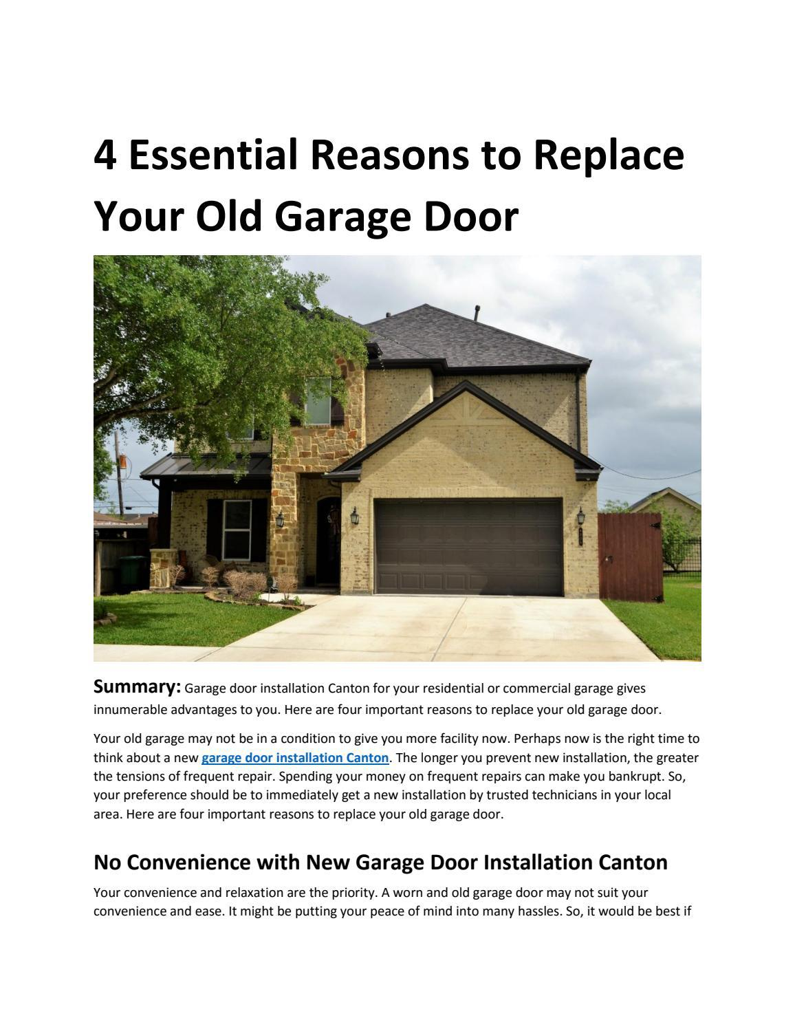 4 Essential Reasons to Replace Your Old Garage Door