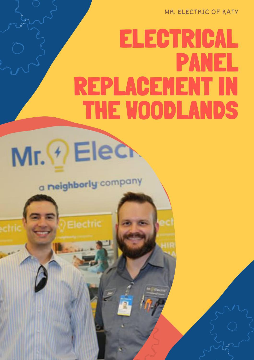 electrical panel replacement in the woodlands